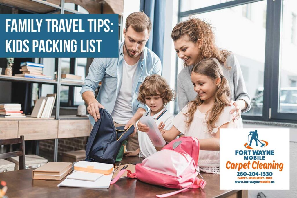 Indiana Travel Tips Kids Packing List